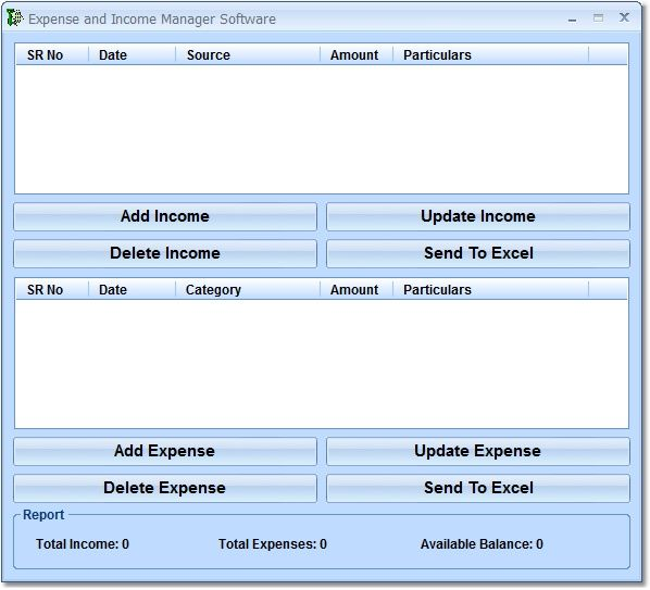 Expense And Income Manager Software 7.0