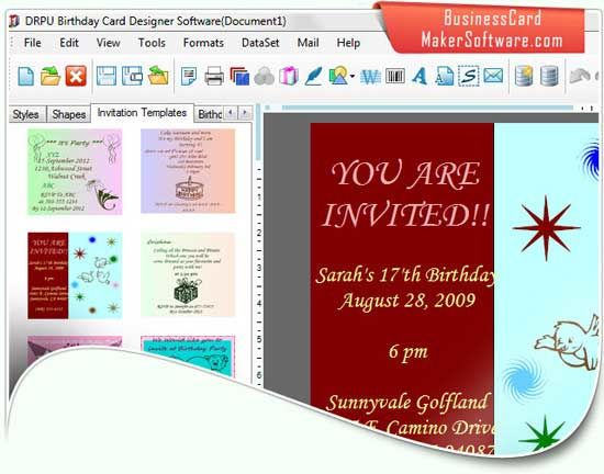 birthday cards maker 8201  cards maker utility designs