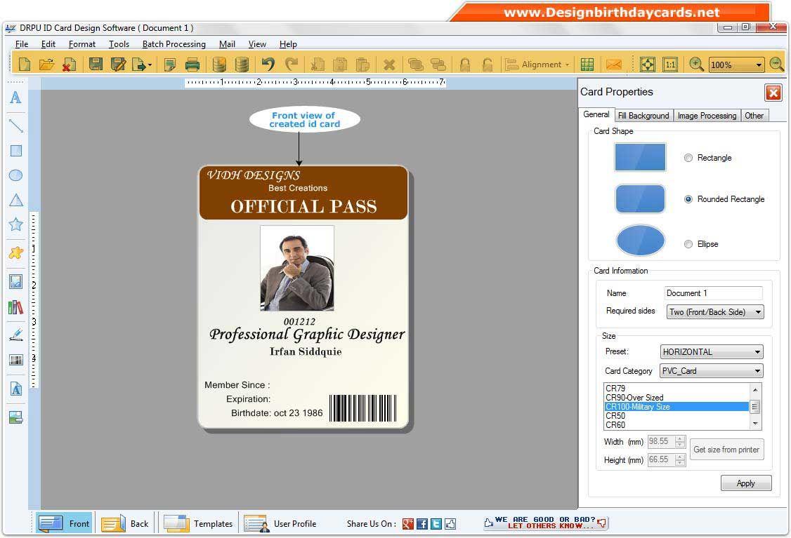 design id card software 8301  corporate card developer