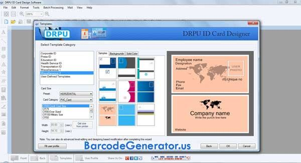 id cards maker tool 8301  professional id cards maker
