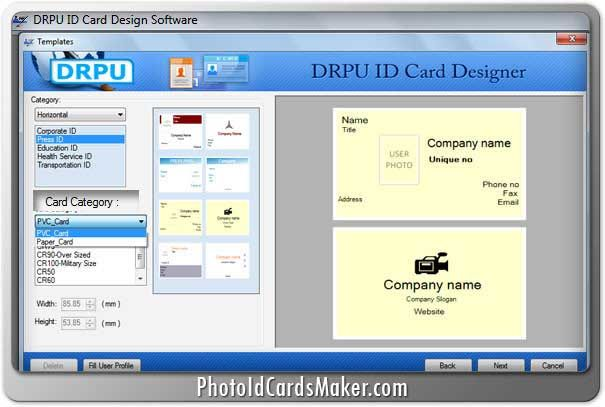 photo id cards maker software 8301  designs attractive