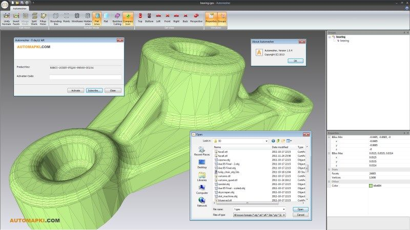 Automesher x64 1 6 4 - Import/Export 3D files for AutoCAD