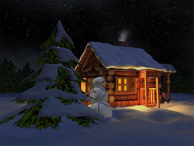3D Winter Night screensaver