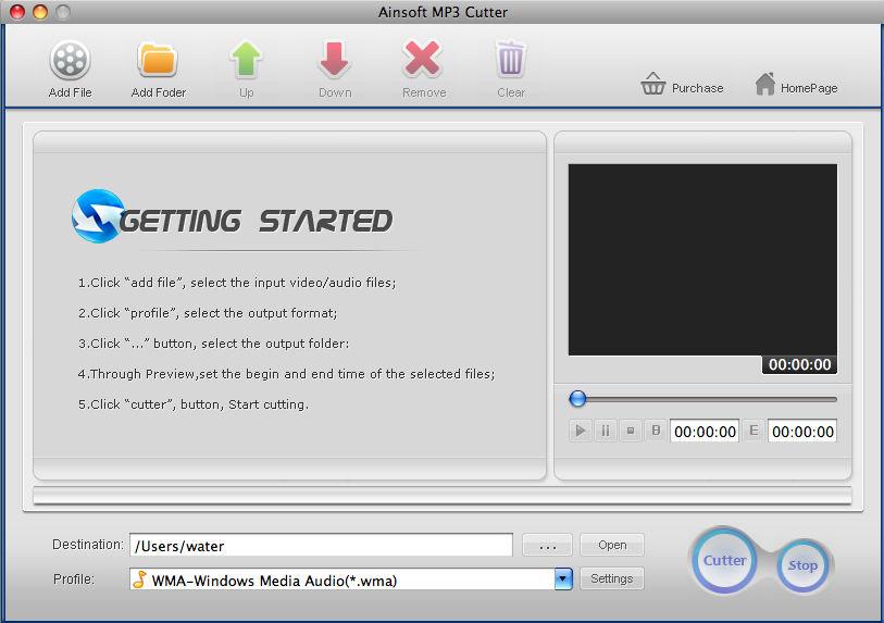 Ainsoft MP3 Cutter for Mac 1.0.6.2 - Edit/convert audio ...